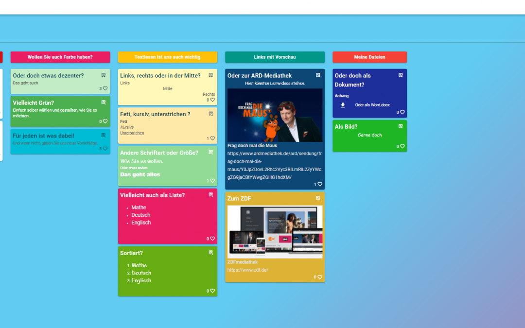 Digitale Pinnwände mit Taskcardserstellen